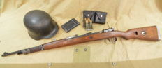 Mauser 98K, all WWII Wehrmacht except bolt, deactivated rifle
