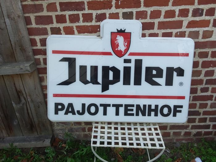 Large advertising of plastic - Jupiler - Belgium 1990