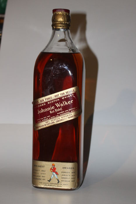 Johnnie Walker Red Label Scotch whisky - large bottle for