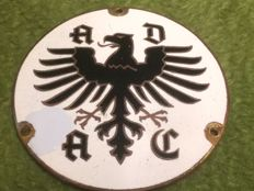 Original German ADAC badge; Early version with enamel on copper base