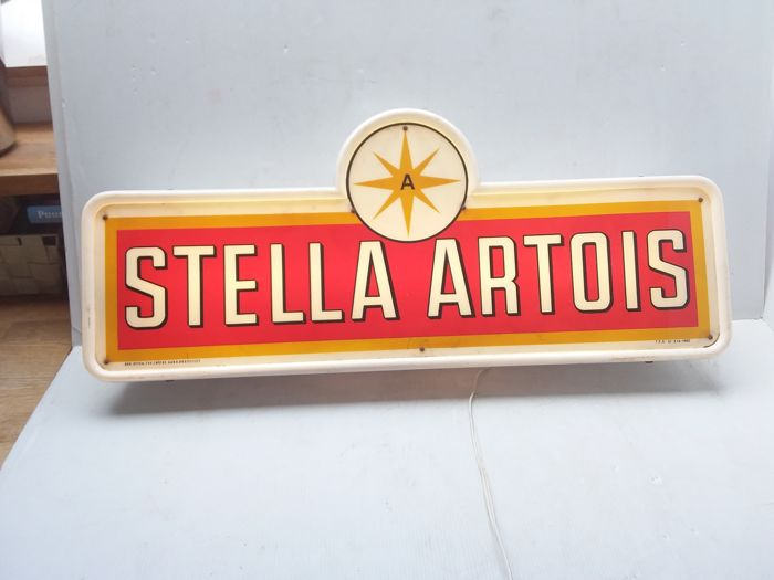 Old illuminated advertising Stella Artois - Belgium - 1962.