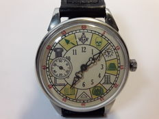 Molnija - marriage wristwatch. Masonic - men's  watch produced in the USSR 1970s
