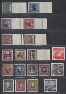 Austria 1922/1934 – Selection – Michel 418/424, 433/441, 586/587 and 612