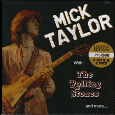 "Mick Taylor/ Rolling Stones: ""Mick Taylor with the Rolling Stones and more..."" Limited Edition Box set with Nine cd's and Two dvd's in Sealed & Unplayed condition!"