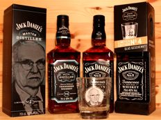 "2 Limited Jack Daniel's Edition 'Jess Gamble"": 1. Master Distiller No. 4, 70cl (sold out) + 2. Jack Daniels No 7 with Glas ""Jess Gamble"", 70cl"