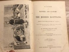 Edward Lane - An Account of Manners and Customs of the Modern Egyptians - 1860