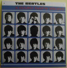 Very cool, Beatles 'A Hard Days Night' LP cover, tin sign. 12 inches by 12 inches( same size as the actual LP cover.