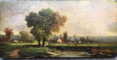 19th Century Barbizon School Landscape. Circle of Charles-Francois Daubigny.