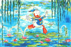 Fernandez, Tony - Unique Digital Print - Donald Duck inspired by Monet