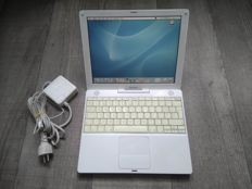 "Apple iBook G4 12"" - 1.2Ghz PowerPC G4, 768MB RAM, 30GB HDD, CD writer - with original charger - model nr A1054 - Late 2004"