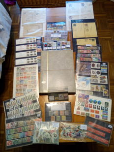 All over the World - Lot of stamps from classic to modern in stock books, loose sheets and cards.