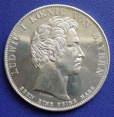 Old Germany, Bavaria - history thaler 1834. Memorial to Oberwittelsbach - silver