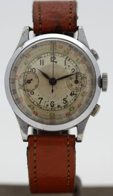 UTI Watch Company Vintage Mens Chronograph Manual Winding Wristwatch, Circa.1940's