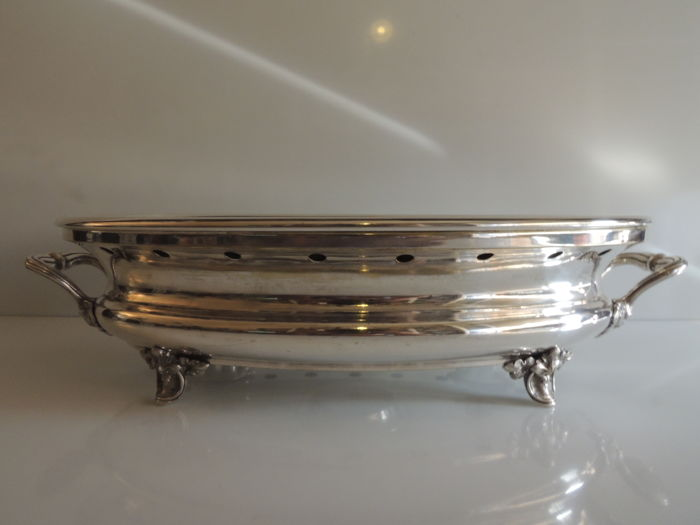 Christofle - Large, oval plate warmer -  silver plated metal - circa 1900