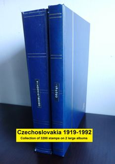 Czechoslovakia 1919-1992 - Large collection of 3.200 stamps in 2 albums