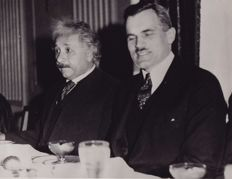 Unknown/ ACME News - Albert Einstein's 54th birthday, Chicago 1933