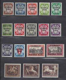 German Empire 1937/1940 - four issues - Michel 671, 699, 716/729 and 747
