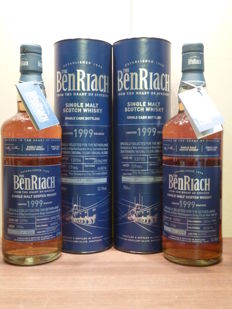 2 bottles - Benriach 17 years - 1999 - Vina Ventisquero Barrel - cask 13705 & cask 13706