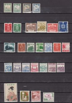 Japan and Manchuria 1936/1955 - Yvert et Teiler 1/4, 318/36, 571/80, 581/8 complete series.
