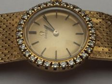 Women's gold Omega watch with 30 diamonds
