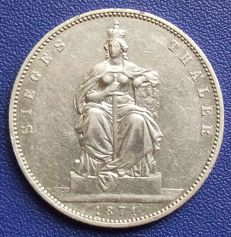 Old Germany, Prussia - victory thaler 1871 - silver