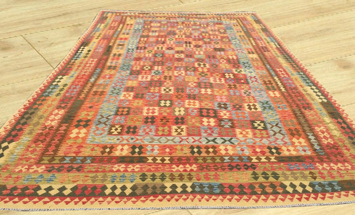 Double Face Extra Large Size Amazing Afghan Hand Woven Veg Dyes Ghazni Wool Kilim Area Rug 506 cm x 303 cm