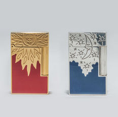 Collection of two Lighters S.T Dupont Rendez-Vous Sun and Moon limited edition -1996