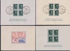 Germany III Reich - 1936 - Block-sheet No. 5 - 8 (x2) - 9 (x2) - Olympic Games and A. Hitler