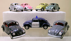 Metosul - Scale 1/43 - Lot with 7 different Volkswagen Beetle