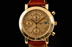 Rare Limited Longines 18k pink gold chronograph