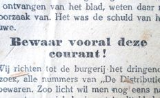 Unique; De Distributie in de Gemeente Utrecht - 1917/1919