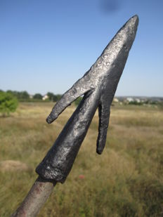 Skythian iron pointed spearhead - 142 mm