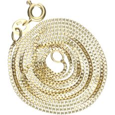 14 kt - Yellow gold Venetian link necklace - Length: 54.5 cm