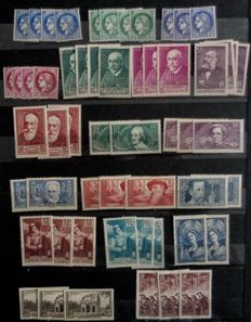 France 1938/1944 – Accumulation with multiples on album stock pages – Between Yvert n° 372  to 668