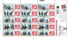 Belgium 2001 - 'Tintin' - 4 sheets of 15 duo stamps
