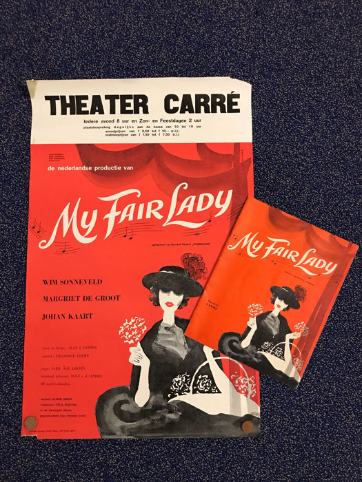 Ad Werner My Fair Lady Wim Sonneveld Program Booklet 1962