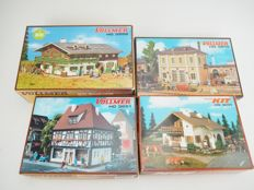 Faller H0 - 5610/9251/3651/3952 - A lot with 4 unbuilt buildings