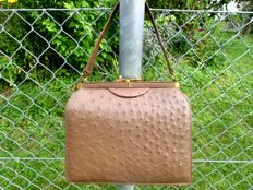Vintage rarity - genuine ostrich leather bag