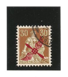 Switzerland 1919/1920 - Swiss airmail - SBK F1 and F2, Michel 152 and 145
