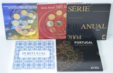 Portugal – Year packs 2002, 2003. 2004, 2009 and 2011 (5 different packs)