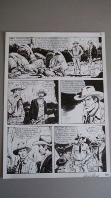 "Danubio, Giacomo - a sequence of 2x original plates ""Tex Willer"" Almanacco 2012"