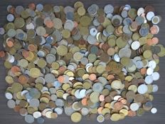 World - batch various coins (over 1000 pieces)
