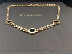 Bulgari Bulgari 18 kt yellow gold necklace - central black onyx inserts - Length 47 cm