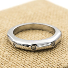18 kt white gold - Cocktail ring - Brilliant cut diamond of 0.25 ct -- Cocktail ring size: 9