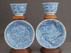 Set of cups and saucers - China = Kangxi period (1662-1722), approx. 1700