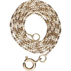 14 kt - Yellow gold, Venetian link necklace - Length: 42 cm