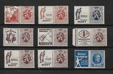 Belgium 1932 - Selection of advertising stamps.