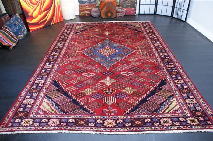 Hand-knotted original Persian carpet, oriental  Meymeh approx. 297 x 202 cm, perfect condtition