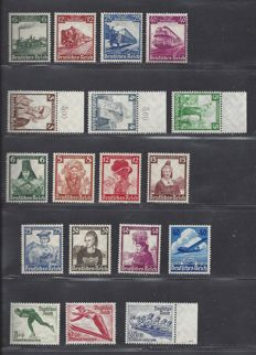 German Reich 1935/1936 - Various issues - Michel 580/583, 588/597, 600/602, 603