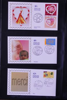 France 2003/2008 - Complete collection of FDCs in three albums